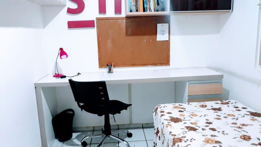 Suíte com home office prox. Novafapi