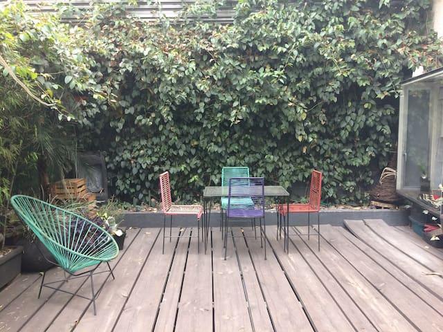 Hermoso cuarto en departamento con terraza en SMC - Mexico City - Lägenhet