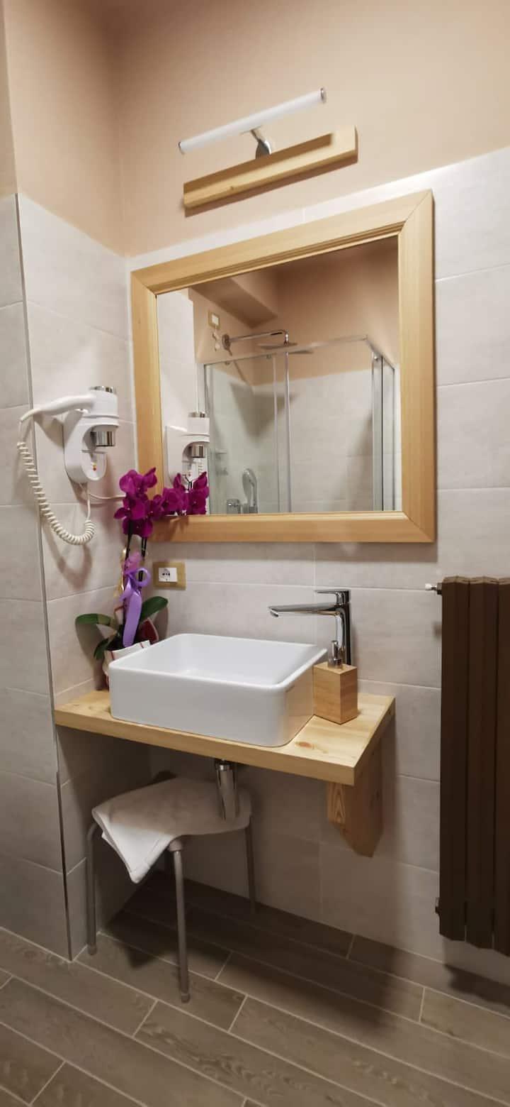 Camera doppia standard in b&b con bagno nuovissimo
