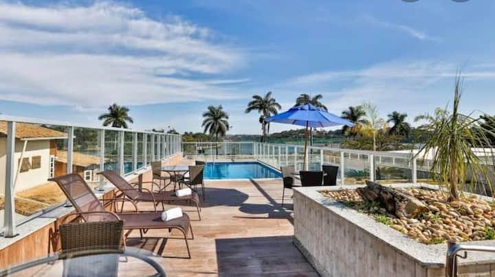 Flat apart hotel San Diego Pampulha com varanda