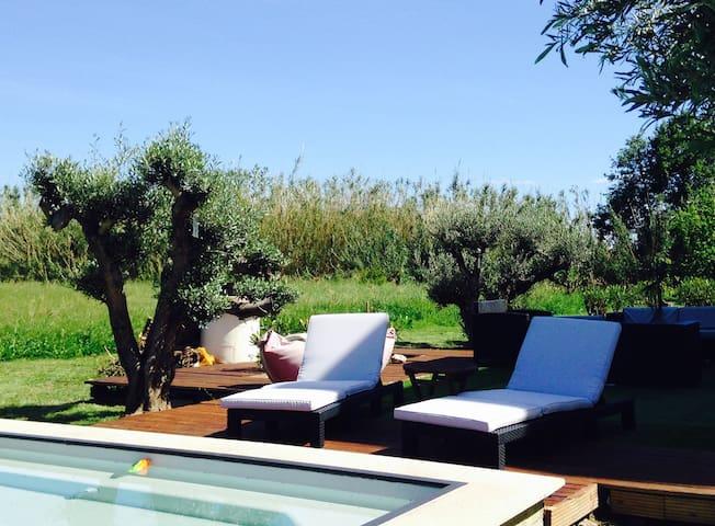 studio rdc villa avec accès piscine - Furiani - Haus