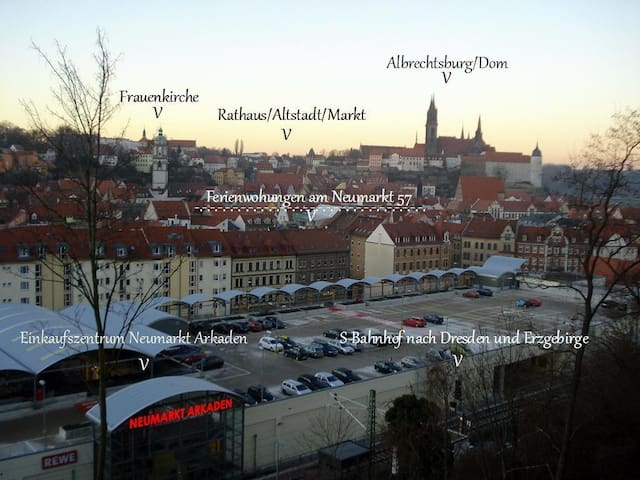 Beautiful flat in old town of Meißen 85 sqm for 1-4 guests