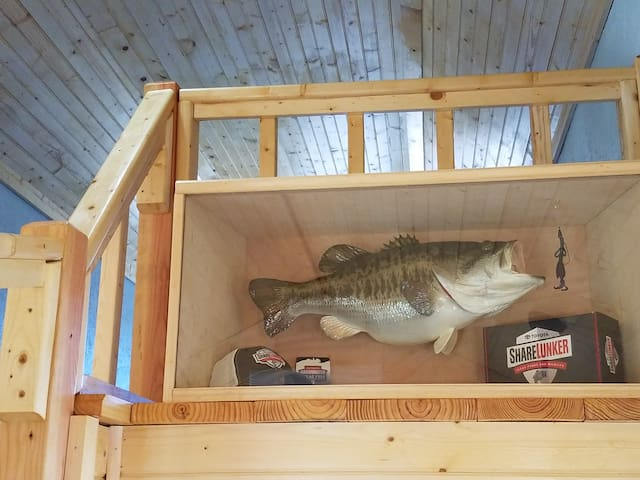 Replica of ShareLunker #581, caught from Lake Leon in March 2019 by the owner's son.