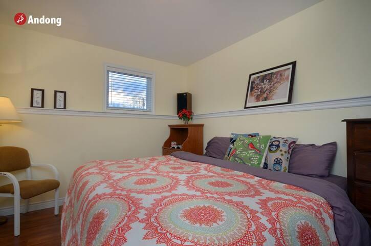 nice king size beedroom - Moncton - Rumah