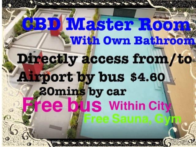CBD Master Room with own Bathroom