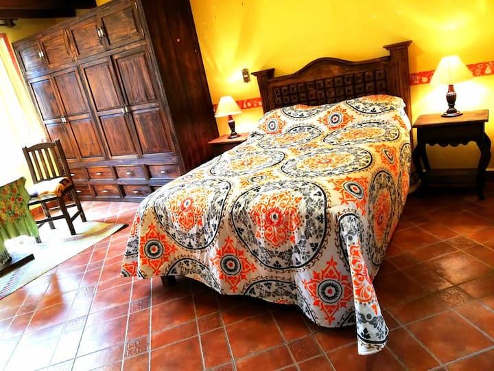 Habitación cama matrimonial y baño narvarte (3)