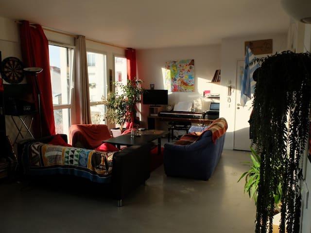 Chambre avec lit 2 places DUPLEX - Gentilly - Apartmen