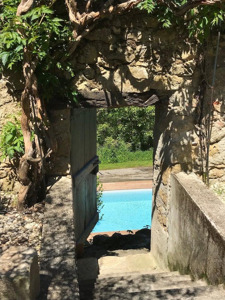 Gers Maison Entière, 3 chambres, piscine chauffée