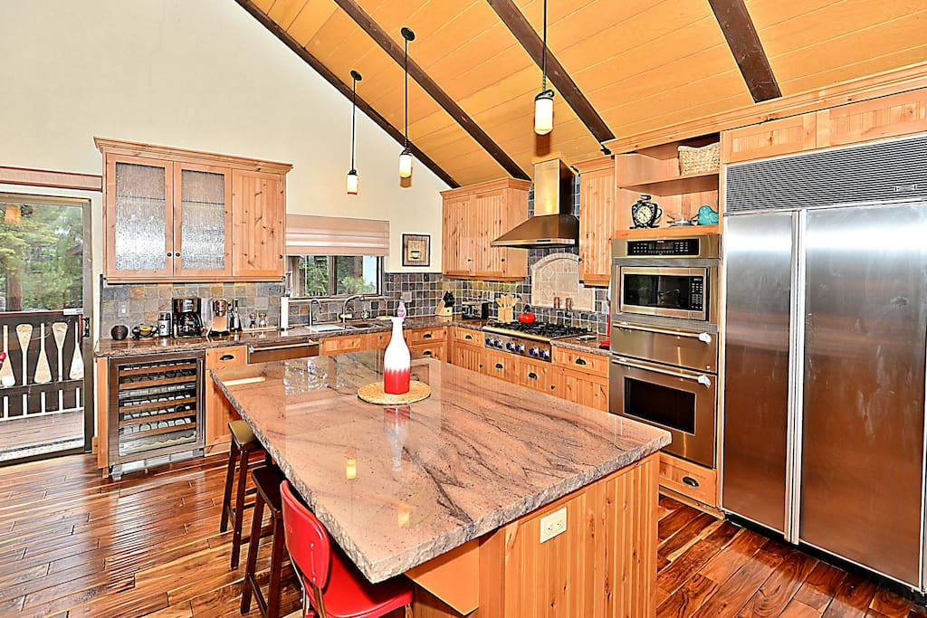 Newly remodeled with top-of-the-line chef's appliances and a granite island.