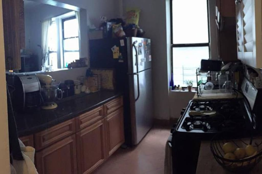 The kitchen. Nice and big for Manhattan