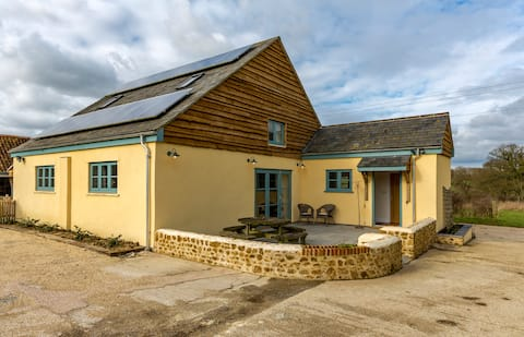 Converted barn in Somerset countryside