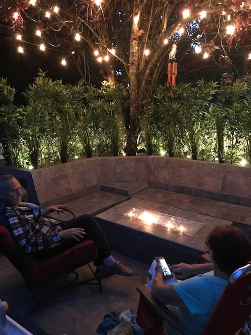 Enjoy your evening at our beautiful lit fire pit! (Weather permitting)
