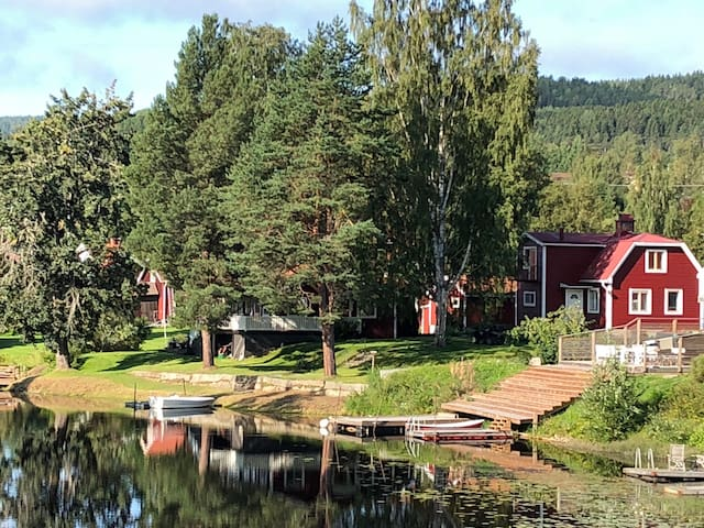 Villa  2 med strandtomt i Järvsö Centralt
