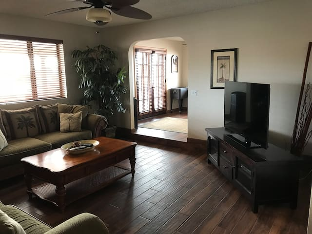 Spacious home with lots parking and patios