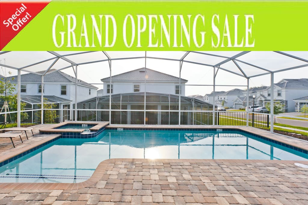 Largest/biggest pool of champions gate  Private Pool and SPA with Heating