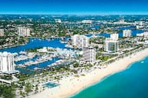 Boca has both the beach and the intercoastal...just lovely!
