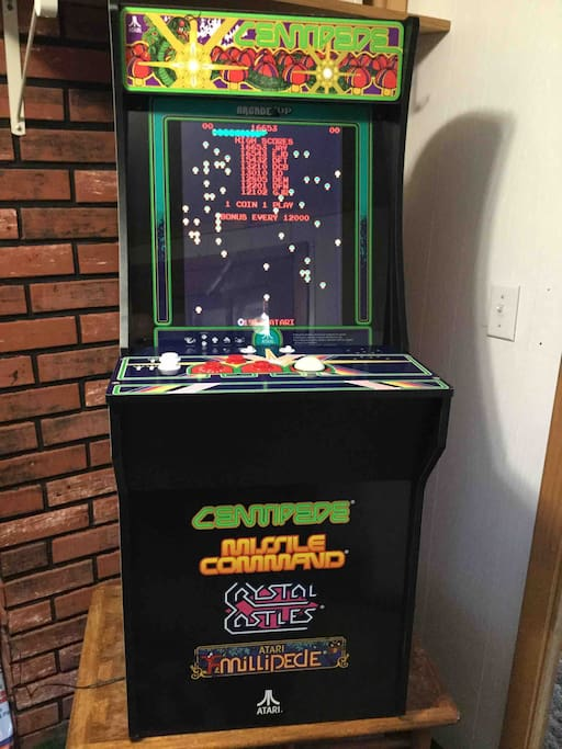 Four great games to play the old fashioned way! Centipede,Missile Command, Crystal Castles and Atari Millipede. No money required, great way to entertain the kids!
