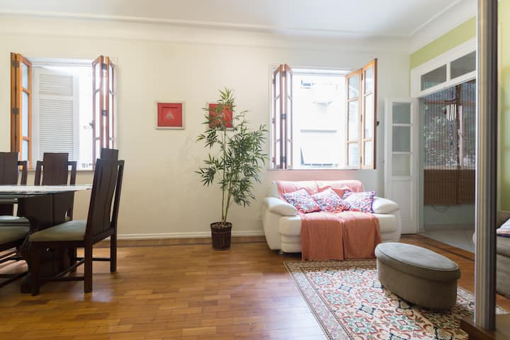 A room in an apartment house style