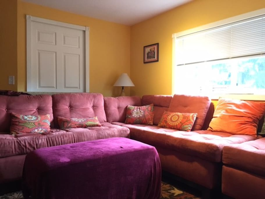 Deliciously comfy couches.. for hanging out.. or sleeping