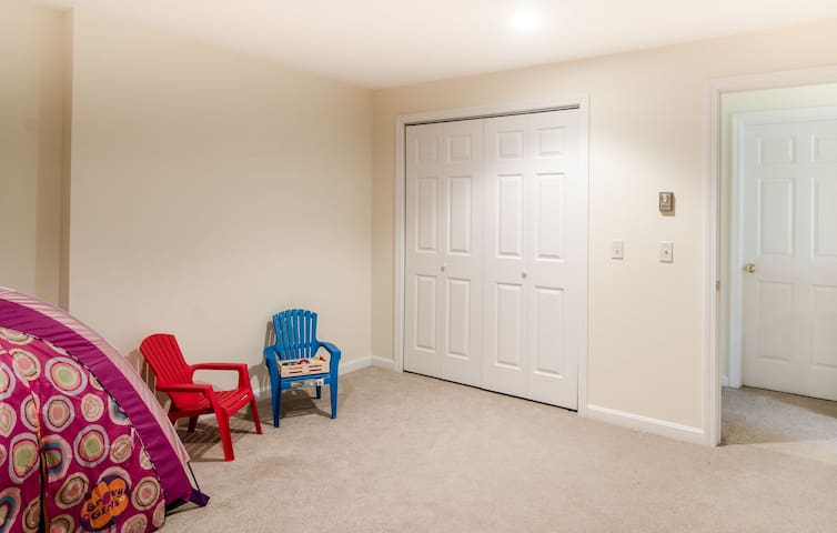 Lower level game/play room