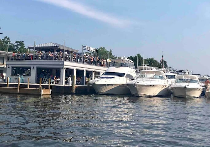 The BARge is open at the Ship n Shore Hotel!! Our resort license means you can get served at the pool.. no shoes no shirt great service! The BARge will be open year round.. RNR guests have access to the pool which is open Memorial Day-Labor Day.