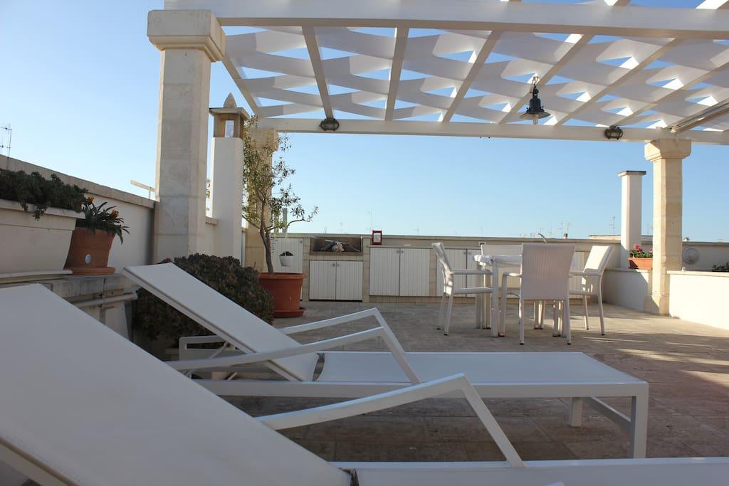 Terrazza privata appartamento n. 3