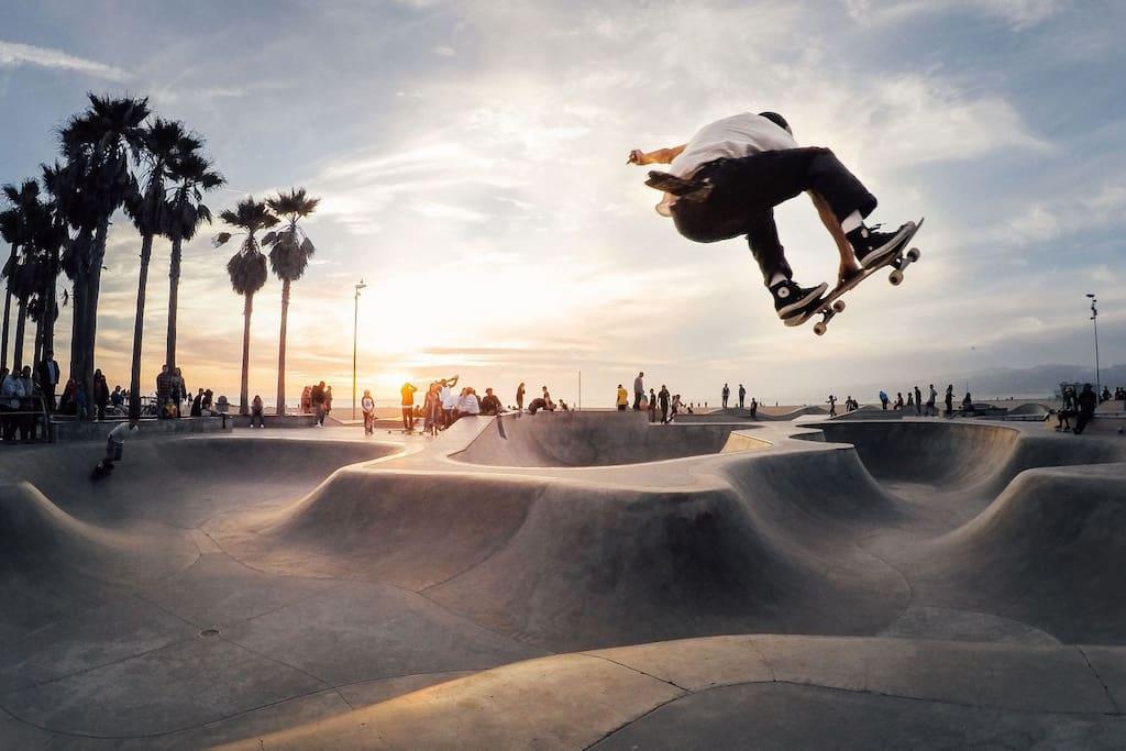 Just blocks form skate park on boardwalk
