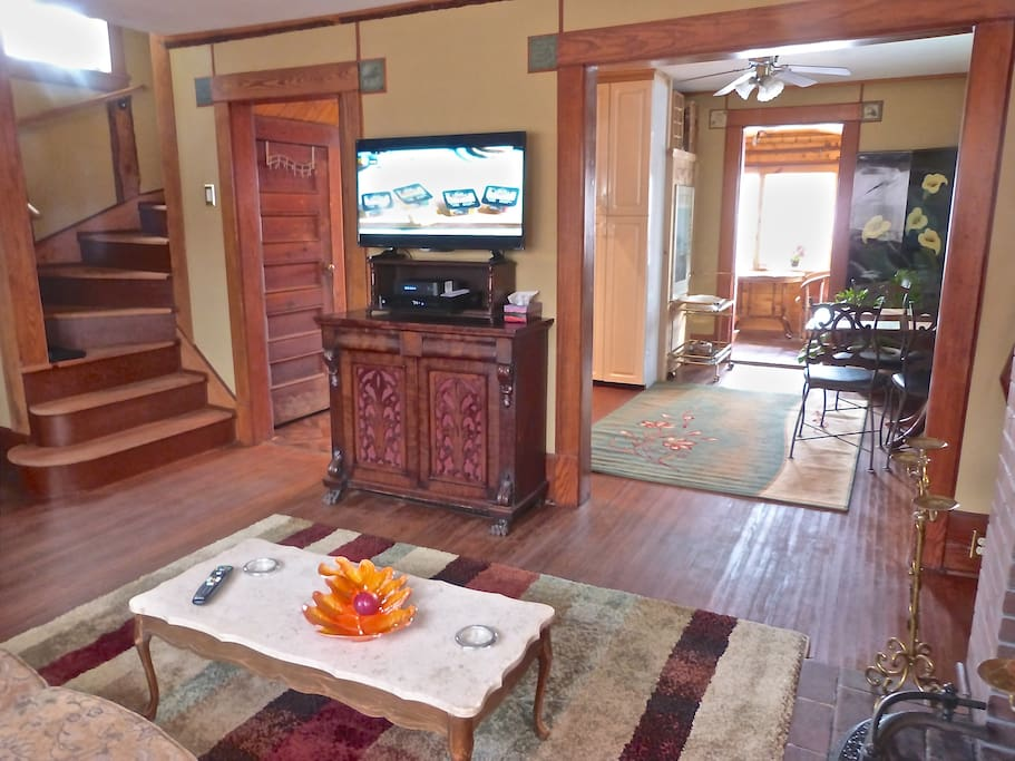 Main floor, open concept, view Trent River from every room. All season temperature controlled sun room!