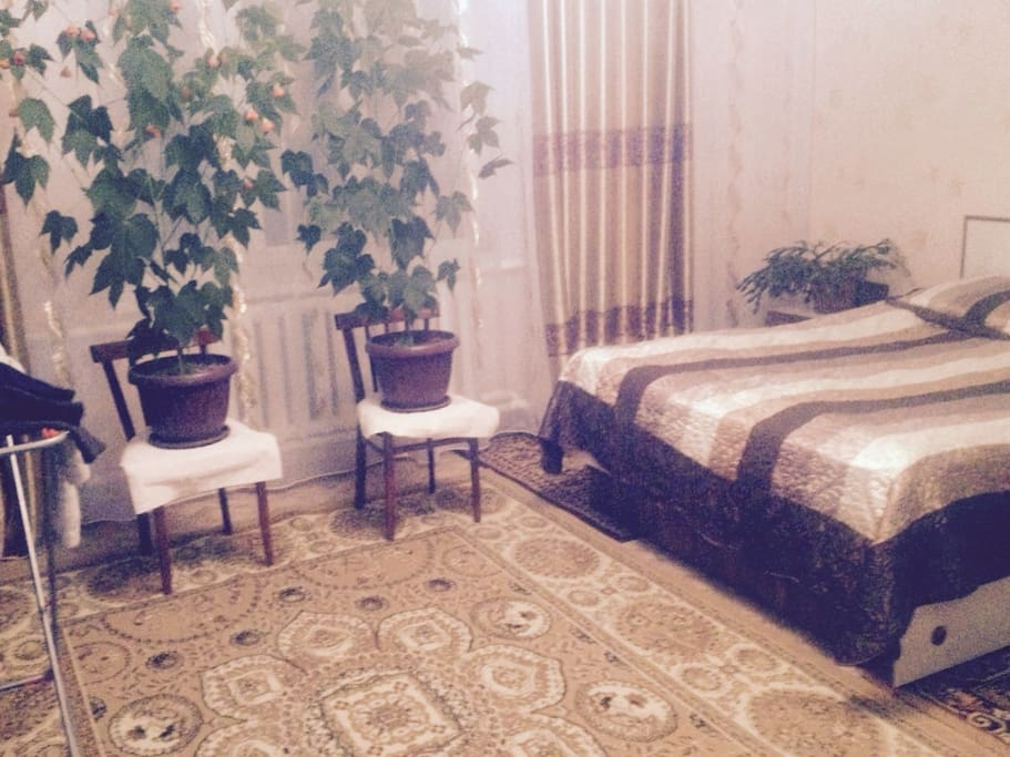 Bedroom and our flowers...:)