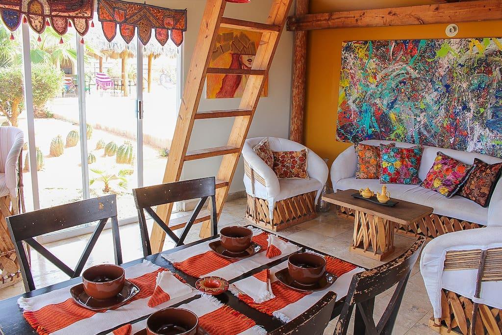 Cabin #1 dinning area