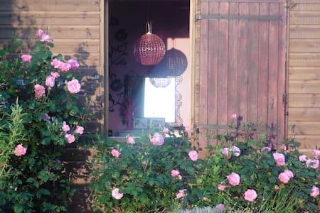 Maison en bois  colorée dans le vignoble de Nantes - Monnières