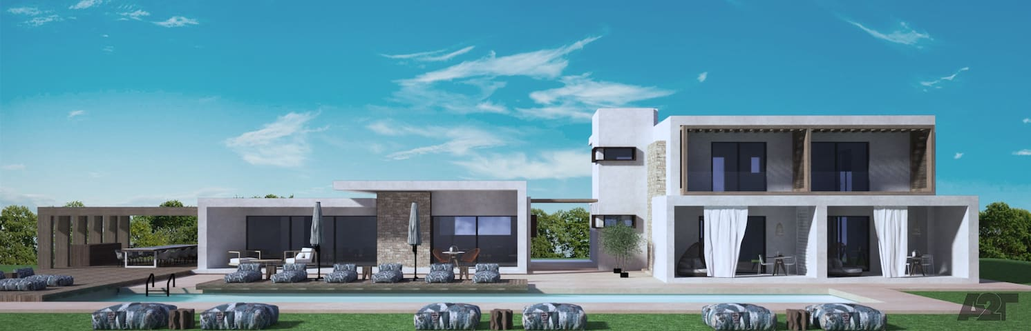 Luxury brand new 6 bd Villa close to the beach