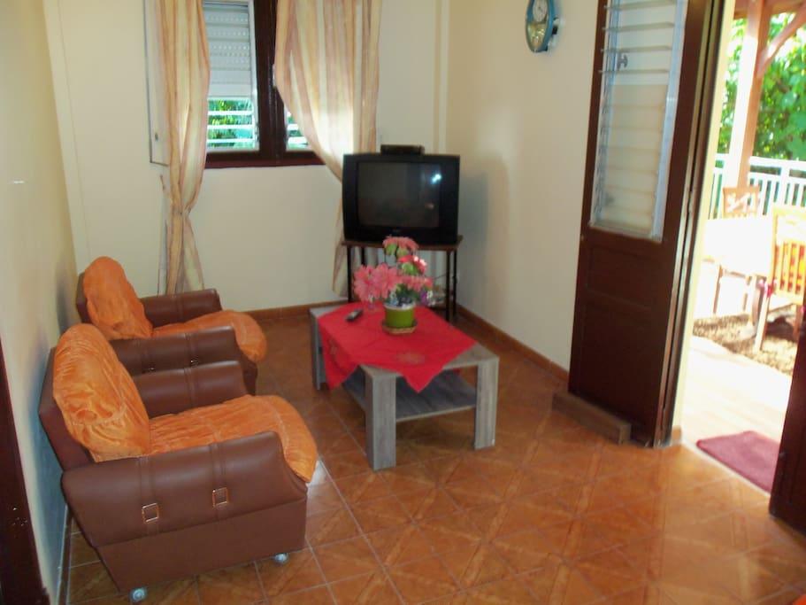 Salon avec télé