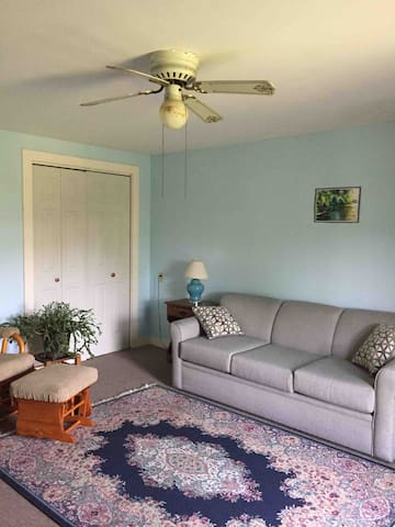 shared with possible other guests, living room space when you enter.