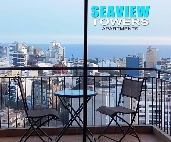 GORGEOUS SEAVIEW BALCONY TERRACE MIRAFLORES - Lima - Appartement en résidence