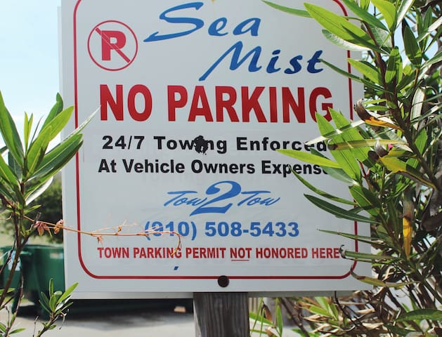 You will have your own parking spot in our lot for 1 vehicle - don't worry about looking for parking during the summer.