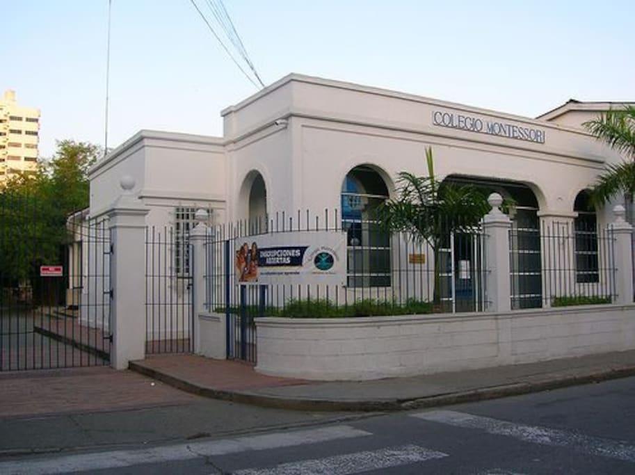 Montessori School, next to our house