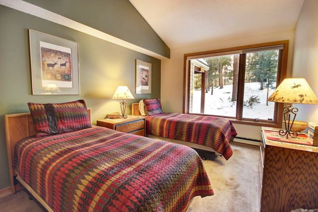 Two twin beds in the guest room