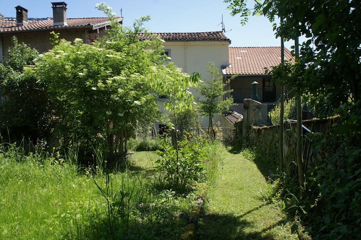 House in the village with nice garden