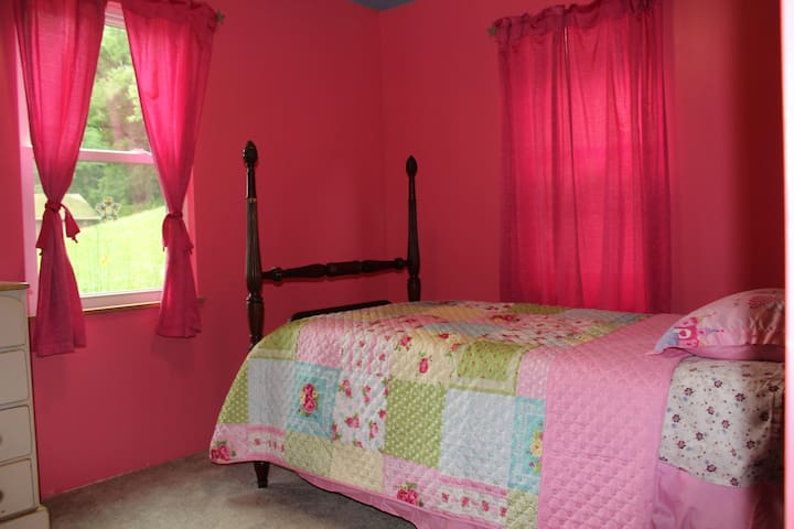Downstairs Pink Room- Twin Bed