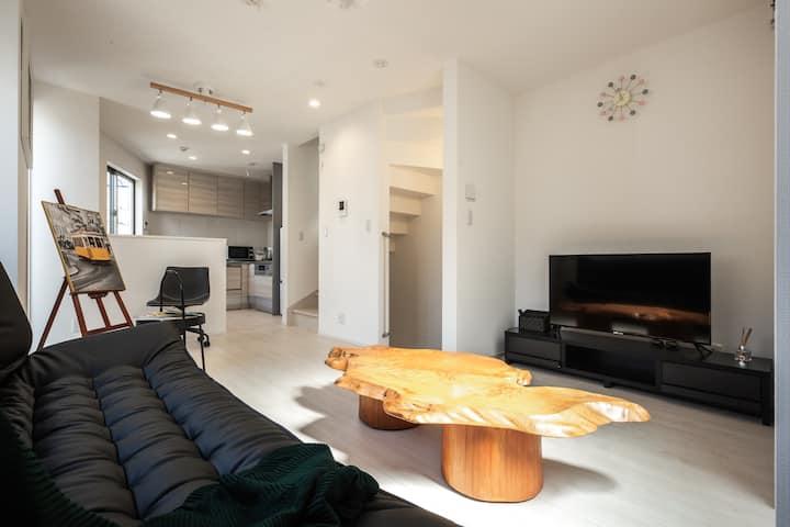Newly built house /yahiro station / free wifi /
