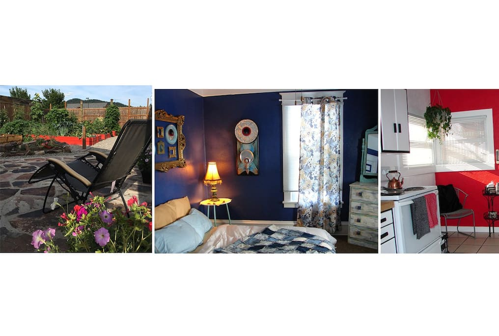 Eclectic artist's home full of art, plants, and plenty of amenities to make your stay enjoyable