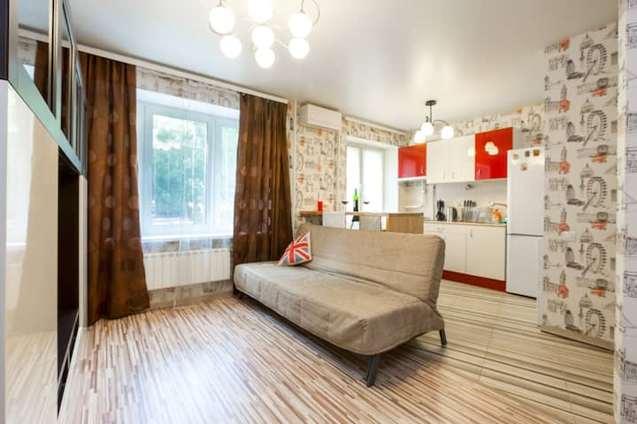 Stylish studio in the Moscow center