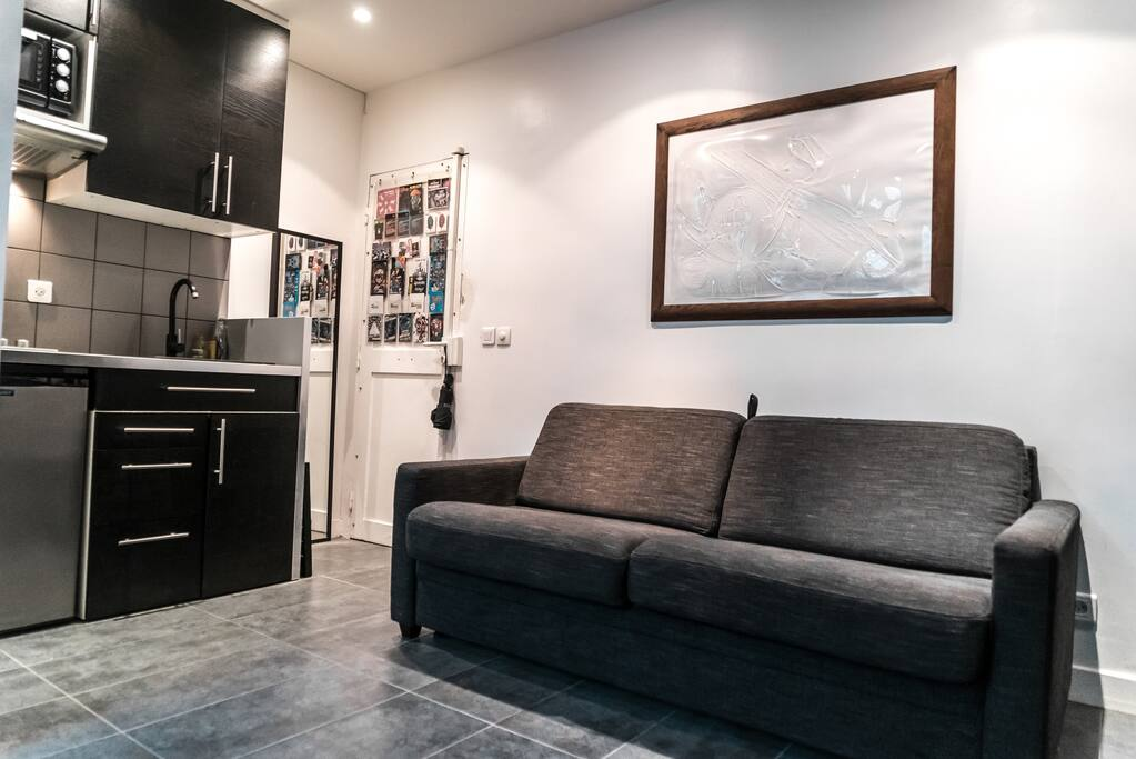 cosy studio close to montparnasse and denfert apartments for rent in paris le de france france. Black Bedroom Furniture Sets. Home Design Ideas