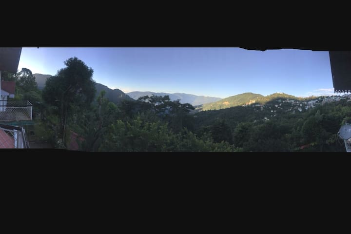 Panoramic view from Bumtar Villa