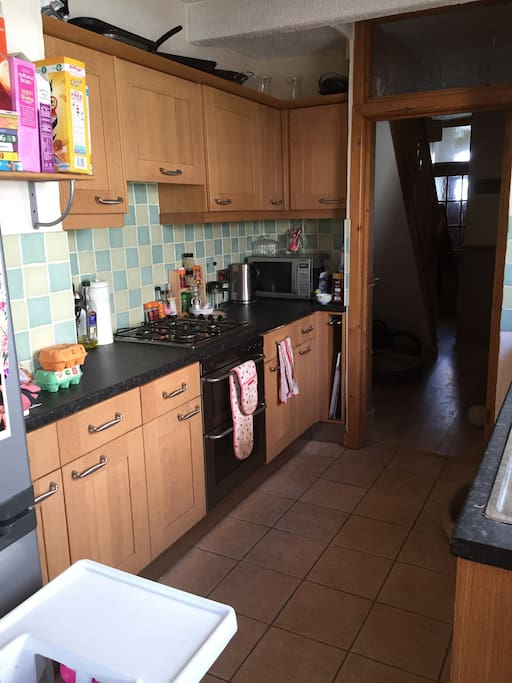 Kitchen complete with all utensils, microwave, dish washer and oven