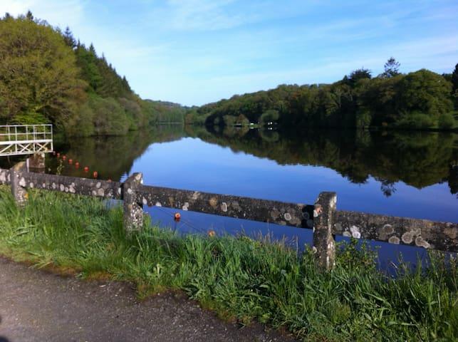 Callac lake,5 minutes drive,fishing permits available.