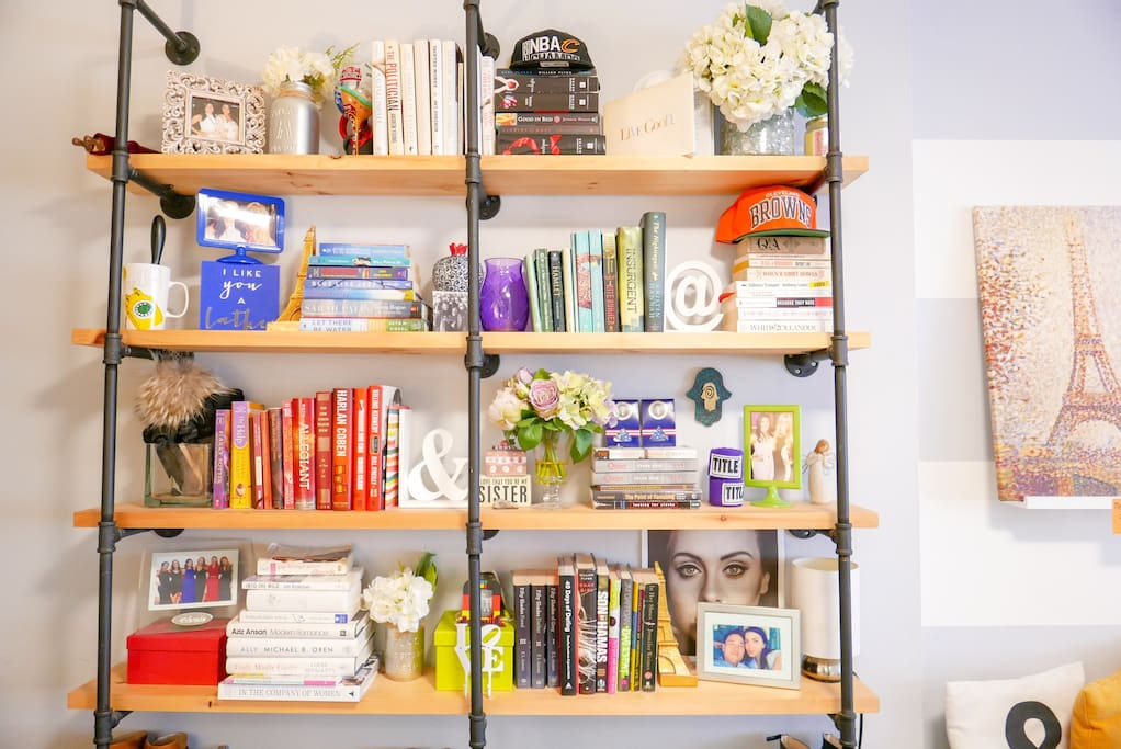 The beloved bookshelf. Lots of good reads.