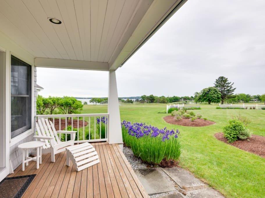 Back Porch with Ocean + Golf Course Views