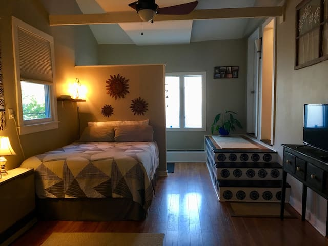 Cozy suite in BTV, ensuite bathroom, dog friendly